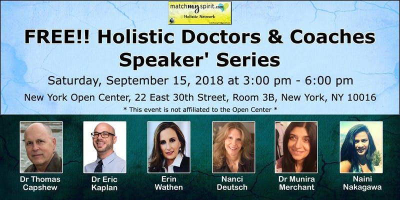 September 15: Holistic Doctors' Speaking Series