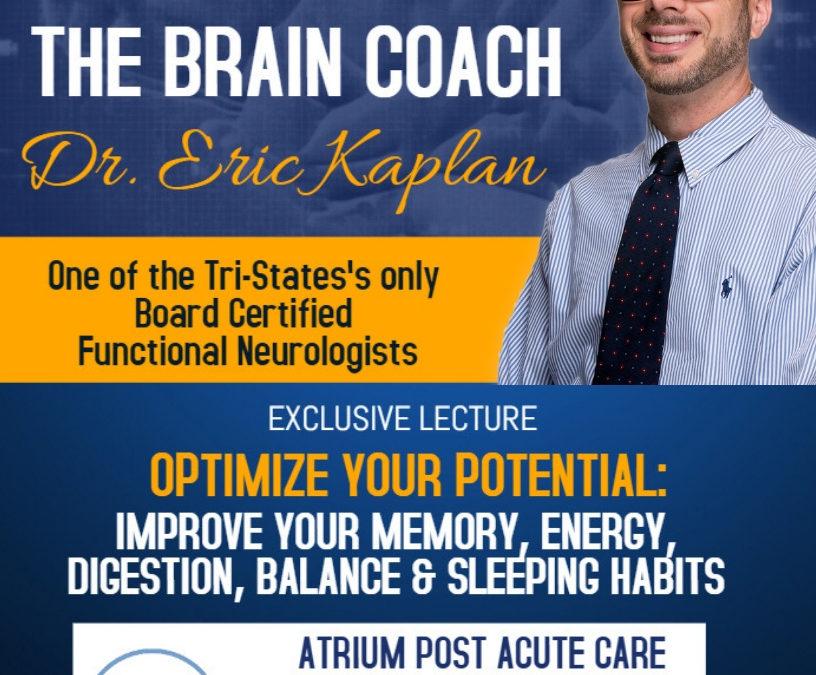 October 16: Lecture at the Atrium of Park Ridge