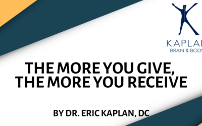 The More You Give, the More You Receive