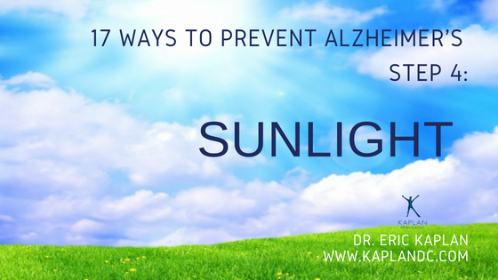 17 Ways to Prevent Alzheimer's – Step 4: Sunlight