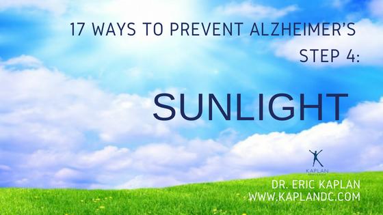 17 Ways to Prevent Alzheimer's – Step 4: Sunlight