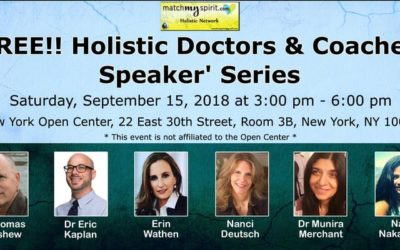 September 15: Holistic Doctors' Speaking Series