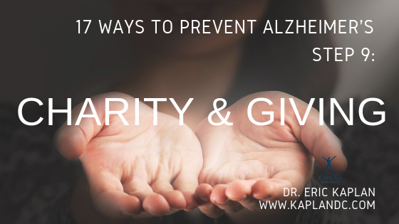 17 Ways to Prevent Alzheimer's – Step 9: Giving & Charity