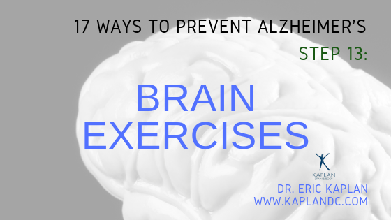 17 Ways to Prevent Alzheimer's – Step 13: Brain Exercises