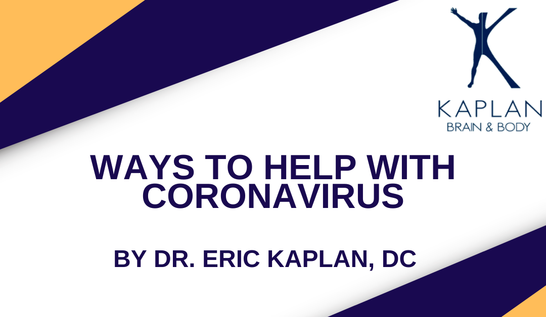 Ways to Help With Coronavirus